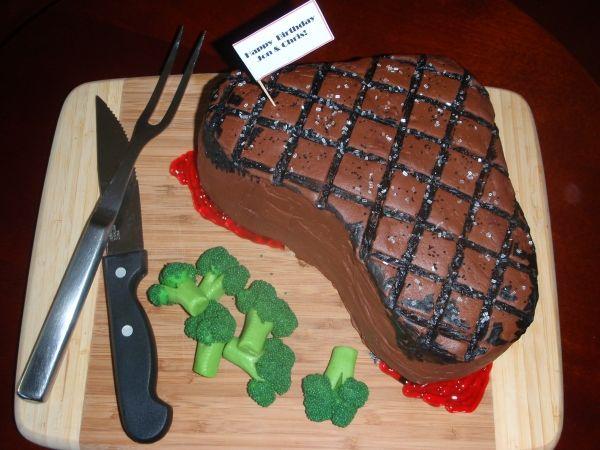 Super Birthday Cakes Steak Cake For My Mans Birthday Yesbirthday Funny Birthday Cards Online Elaedamsfinfo