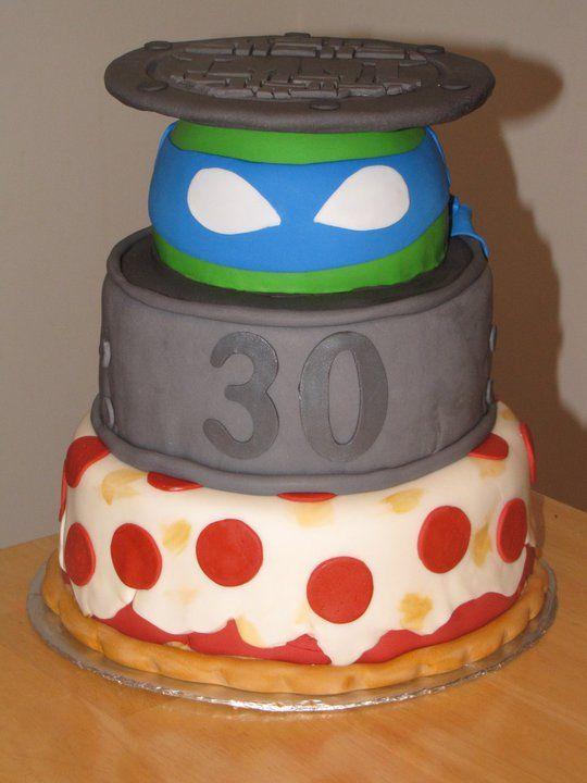 Peachy Birthday Cakes Tmnt Teenage Mutant Ninja Turtles Cake 30Th Funny Birthday Cards Online Overcheapnameinfo