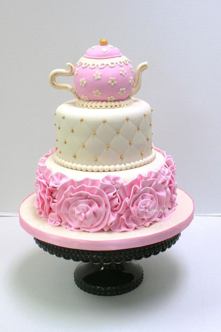 Excellent Birthday Cakes Tea Party Cake Tea Party Cake Tea Party Cake Funny Birthday Cards Online Benoljebrpdamsfinfo