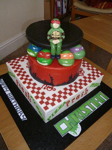 Magnificent Birthday Cakes Teenage Mutant Ninja Turtle Cake Tmnt Personalised Birthday Cards Paralily Jamesorg