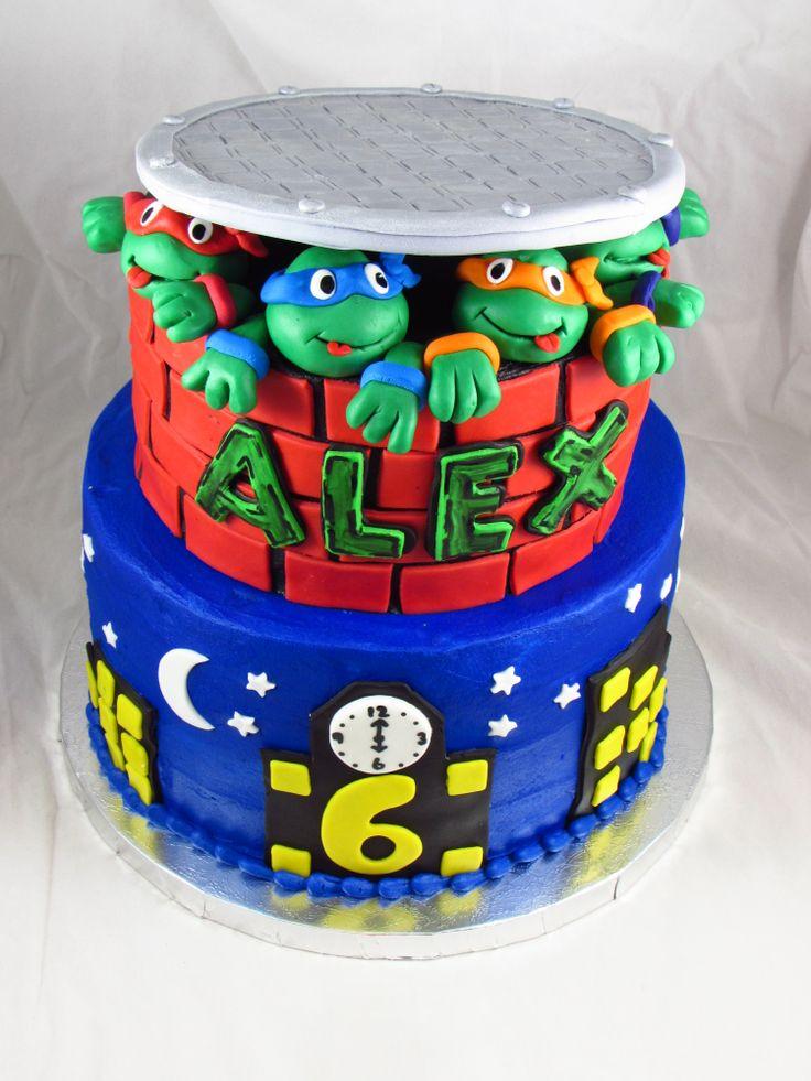 Awe Inspiring Birthday Cakes Teenage Mutant Ninja Turtles Birthday Cake Funny Birthday Cards Online Elaedamsfinfo