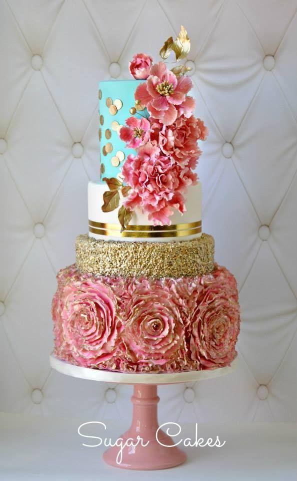 Stupendous Birthday Cakes The 25 Prettiest Floral Wedding Cakes Youve Ever Birthday Cards Printable Giouspongecafe Filternl