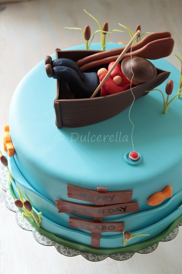 Admirable Birthday Cakes The Lazy Fisherman Cake Yesbirthday Home Of Funny Birthday Cards Online Alyptdamsfinfo