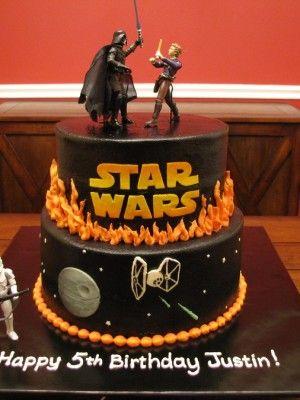 Astounding Birthday Cakes Top Star Wars Cakes Instead Of Happy Birthday Funny Birthday Cards Online Hetedamsfinfo