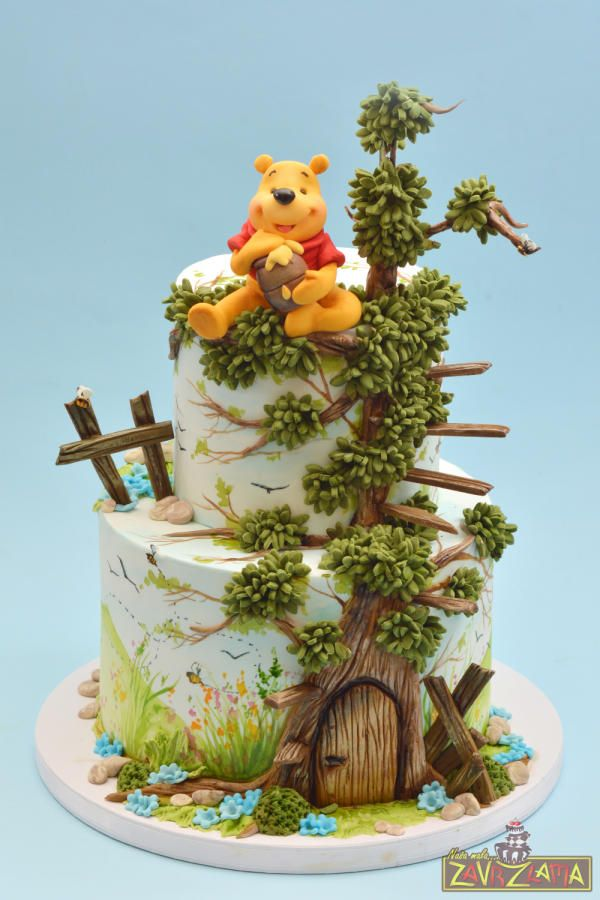 Cool Birthday Cakes Winnie The Pooh Cake By Nasa Mala Zavrzlama Funny Birthday Cards Online Necthendildamsfinfo