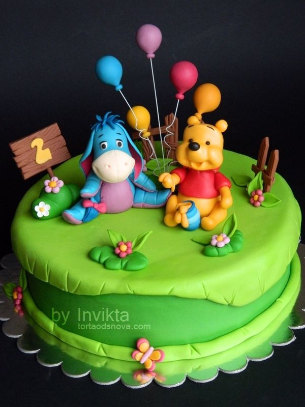 Tremendous Birthday Cakes Winnie The Pooh Birthday Cake Childrens Personalised Birthday Cards Veneteletsinfo