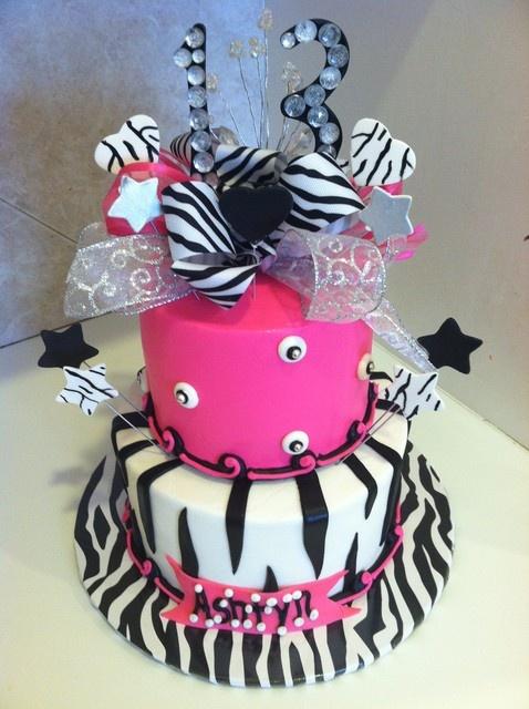 Birthday Cakes  Zebra Print Cake. My girls would LOVE this