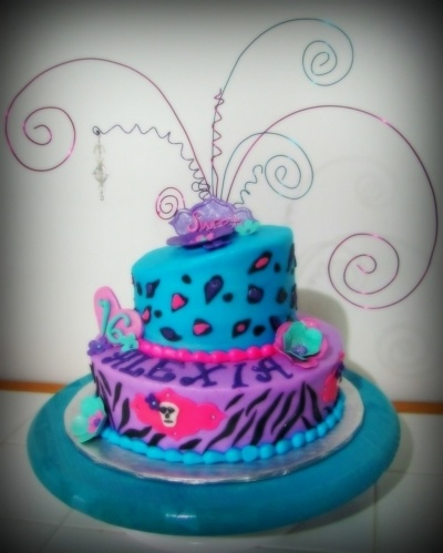 Marvelous Birthday Cakes Zebra Cheetah Cake Yesbirthday Home Of Personalised Birthday Cards Vishlily Jamesorg