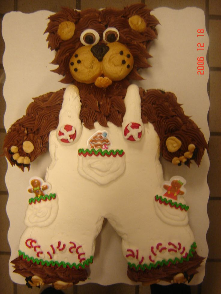 Astounding Birthday Cakes Boy Christmas Bear 24 Count Cupcake Cake In The Personalised Birthday Cards Veneteletsinfo