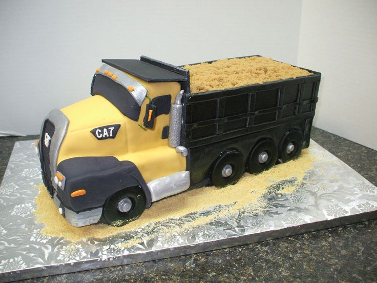 Tremendous Birthday Cakes Cat Dump Truck Cake Yesbirthday Home Of Funny Birthday Cards Online Elaedamsfinfo