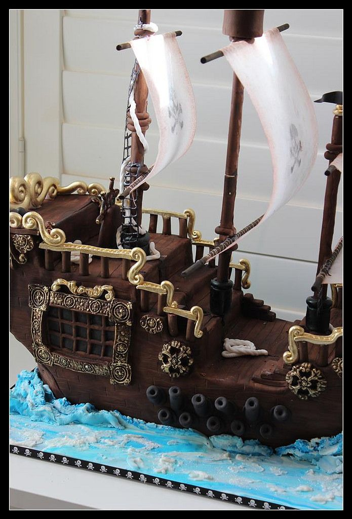 Pleasing Birthday Cakes Pirate Ship Cake Yesbirthday Home Of Birthday Birthday Cards Printable Riciscafe Filternl