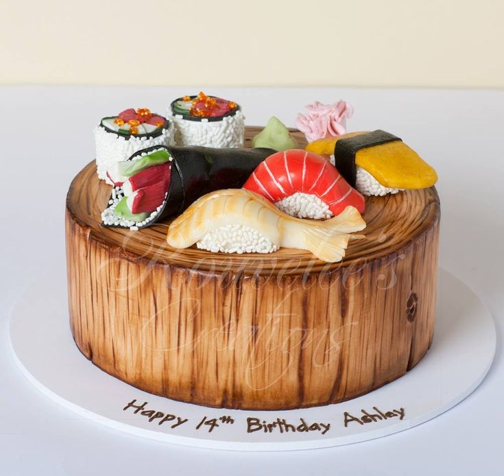 Amazing Birthday Cakes Sushi Cake Yahoo Image Search Results Personalised Birthday Cards Veneteletsinfo