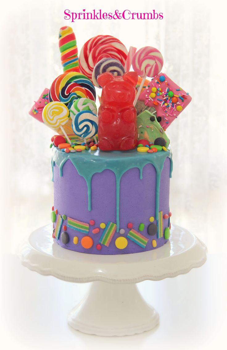 Pleasant Birthday Cakes Wonka Drip Cake Featuring A Giant Gummy Bear Personalised Birthday Cards Xaembasilily Jamesorg