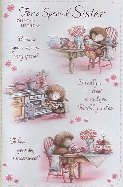 Description Birthday Cards Female Relation Sister For A Special