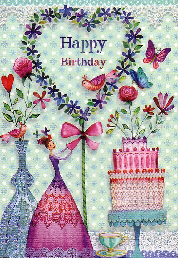 Birthday Quotes  Postcard designed by Mila Marquis like the