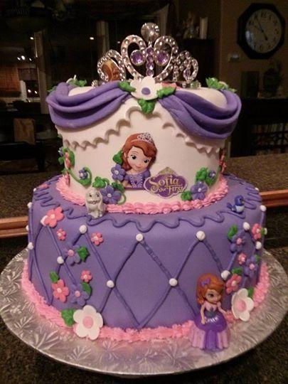 Astounding Birthday Cakes Sofia The First Birthday Cake Sofia Fondant Personalised Birthday Cards Cominlily Jamesorg