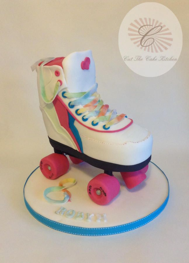 Stupendous Birthday Cakes 3D Roller Skate Cake By Emma Lake Cut The Personalised Birthday Cards Petedlily Jamesorg