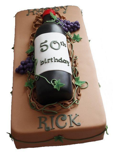 Outstanding Birthday Cakes 50Th Birthday Wine Bottle Cake Yesbirthday Funny Birthday Cards Online Unhofree Goldxyz