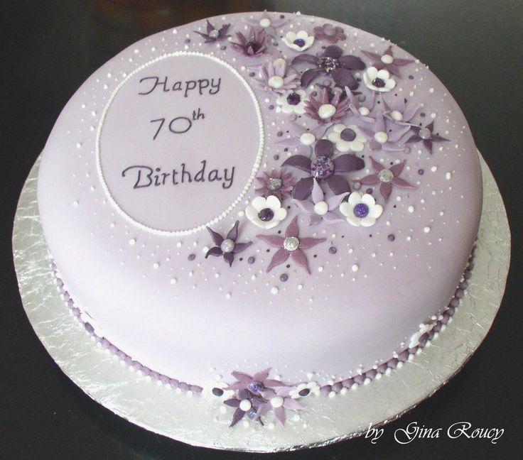 Stupendous Birthday Cakes 70Th Birthday Cake By Ginas Cakes On Deviantart Funny Birthday Cards Online Overcheapnameinfo