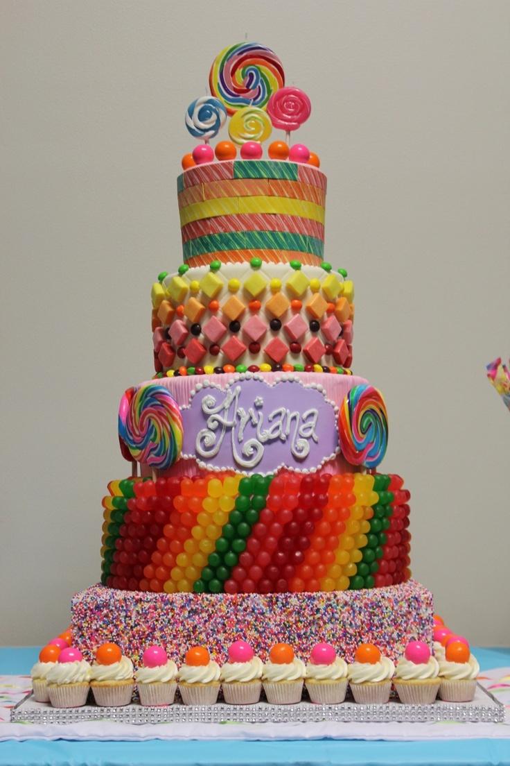 Incredible Birthday Cakes Candy Themed Cake Yesbirthday Home Of Personalised Birthday Cards Veneteletsinfo