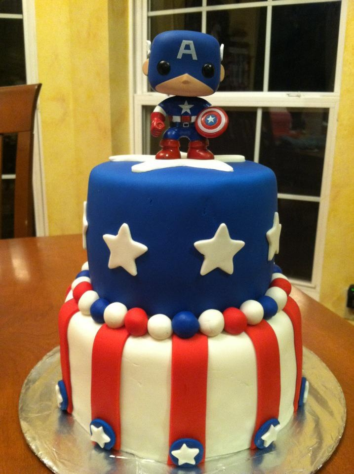 Amazing Birthday Cakes Captain America Cake Would Love This For My Funny Birthday Cards Online Elaedamsfinfo