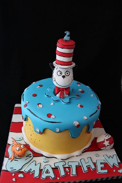 Excellent Birthday Cakes Cat In The Hat Cake Yesbirthday Home Of Personalised Birthday Cards Veneteletsinfo