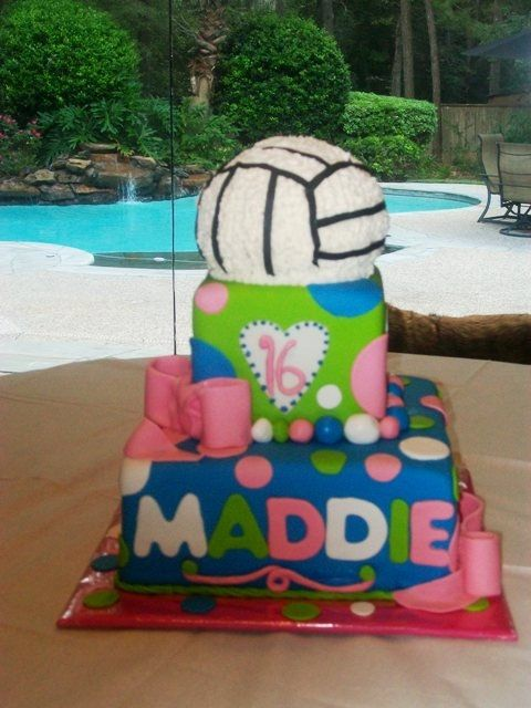 Remarkable Birthday Cakes Childrens Birthday Cakes Volleyball Cake Personalised Birthday Cards Beptaeletsinfo