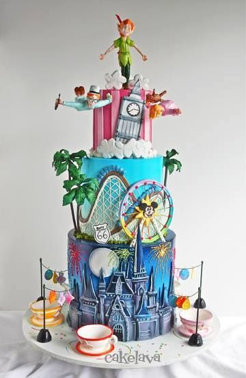 Terrific Birthday Cakes Disneyland And Disneys California Adventure Funny Birthday Cards Online Chimdamsfinfo