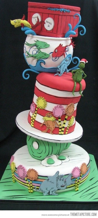 Awe Inspiring Birthday Cakes Dr Seuss Cake Yesbirthday Home Of Birthday Funny Birthday Cards Online Alyptdamsfinfo