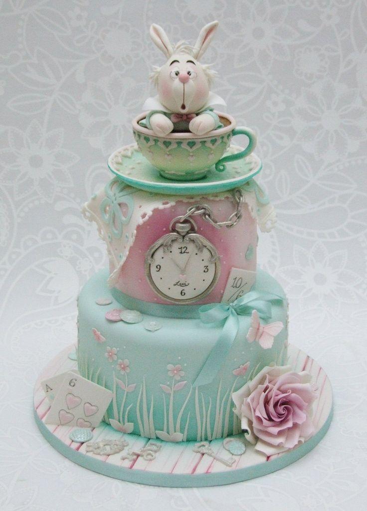 Excellent Birthday Cakes Emma Jayne Cake Design Alice In Wonderland Cake Birthday Cards Printable Trancafe Filternl