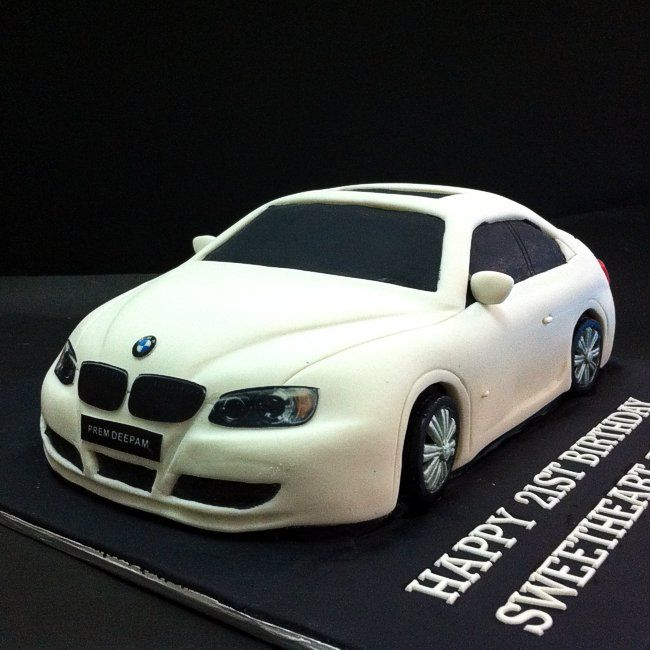 Awe Inspiring Birthday Cakes Fondant 3D Bmw Automobiles Send Cake Online With Funny Birthday Cards Online Fluifree Goldxyz