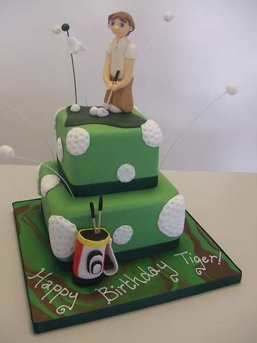 Admirable Birthday Cakes Golf Birthday Cake Minus The Guy On Top Birthday Cards Printable Trancafe Filternl