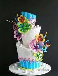 Marvelous Birthday Cakes Image Result For Funky Topsy Turvy Magic Cake Personalised Birthday Cards Arneslily Jamesorg