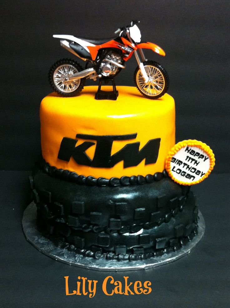 Brilliant Birthday Cakes Ktm Dirt Bike Birthday Cake What Do You Think Funny Birthday Cards Online Inifofree Goldxyz