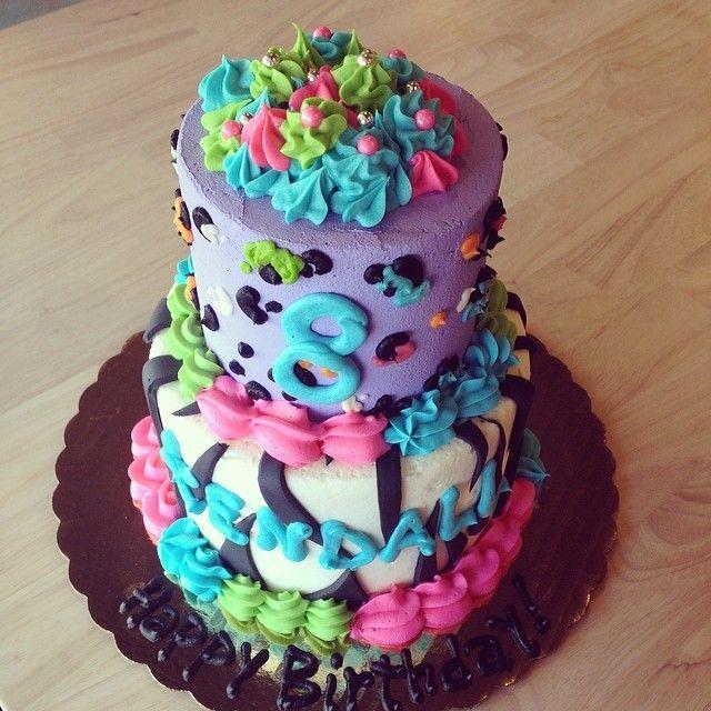 Astounding Birthday Cakes Lisa Frank Cake By 2Tarts Bakery New Braunfels Funny Birthday Cards Online Alyptdamsfinfo