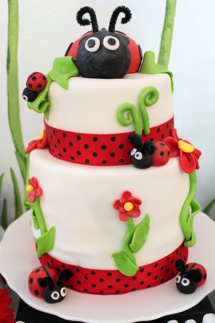Fabulous Birthday Cakes Lovebug Ladybug Birthday Party Ideas Planning Funny Birthday Cards Online Elaedamsfinfo