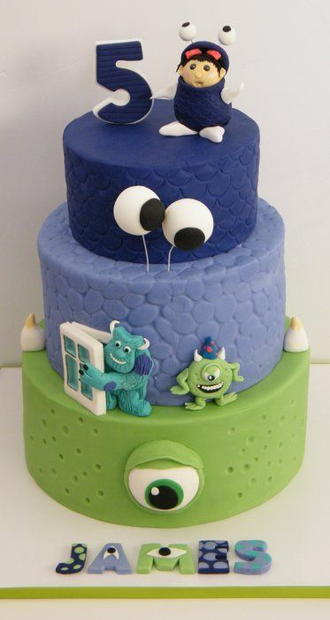 Remarkable Birthday Cakes Monster Inc Cake Yesbirthday Home Of Birthday Personalised Birthday Cards Veneteletsinfo