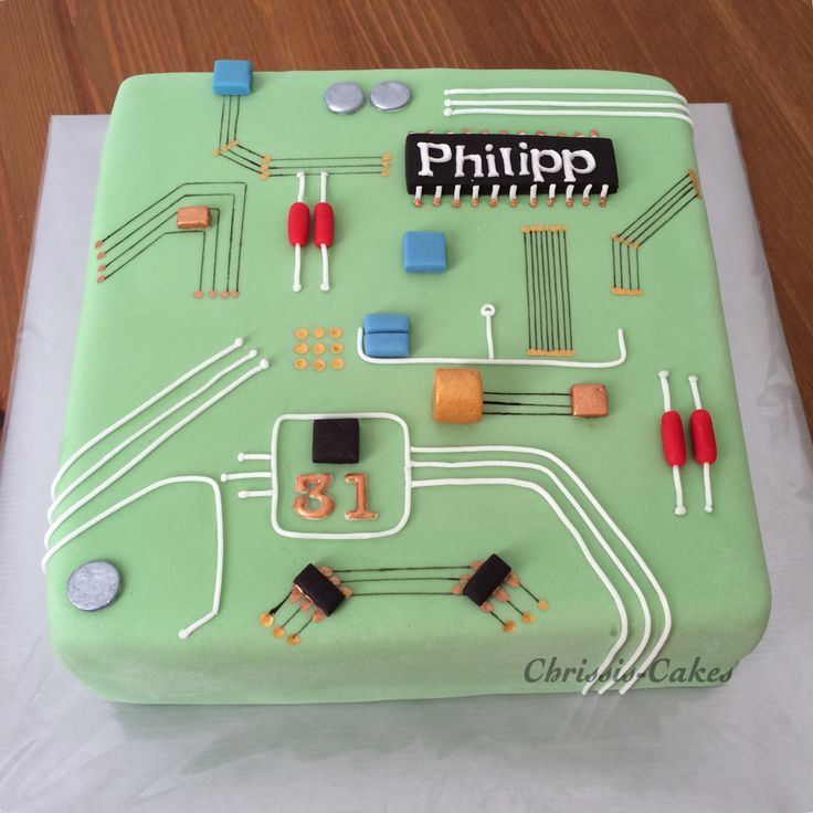 Brilliant Birthday Cakes Motherboard Computer Cake Yesbirthday Home Of Funny Birthday Cards Online Barepcheapnameinfo