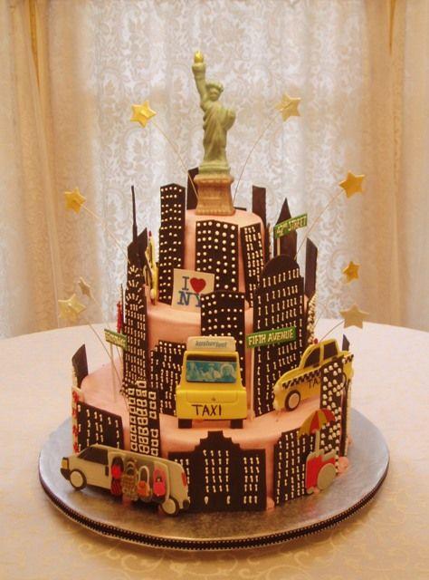 Pleasing Birthday Cakes New York City Sightseeing Cake Yesbirthday Funny Birthday Cards Online Inifofree Goldxyz