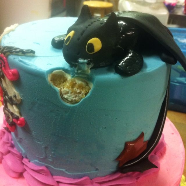 Astounding Birthday Cakes One Of Many Cool Cakes The Dragon Toothless From Personalised Birthday Cards Veneteletsinfo