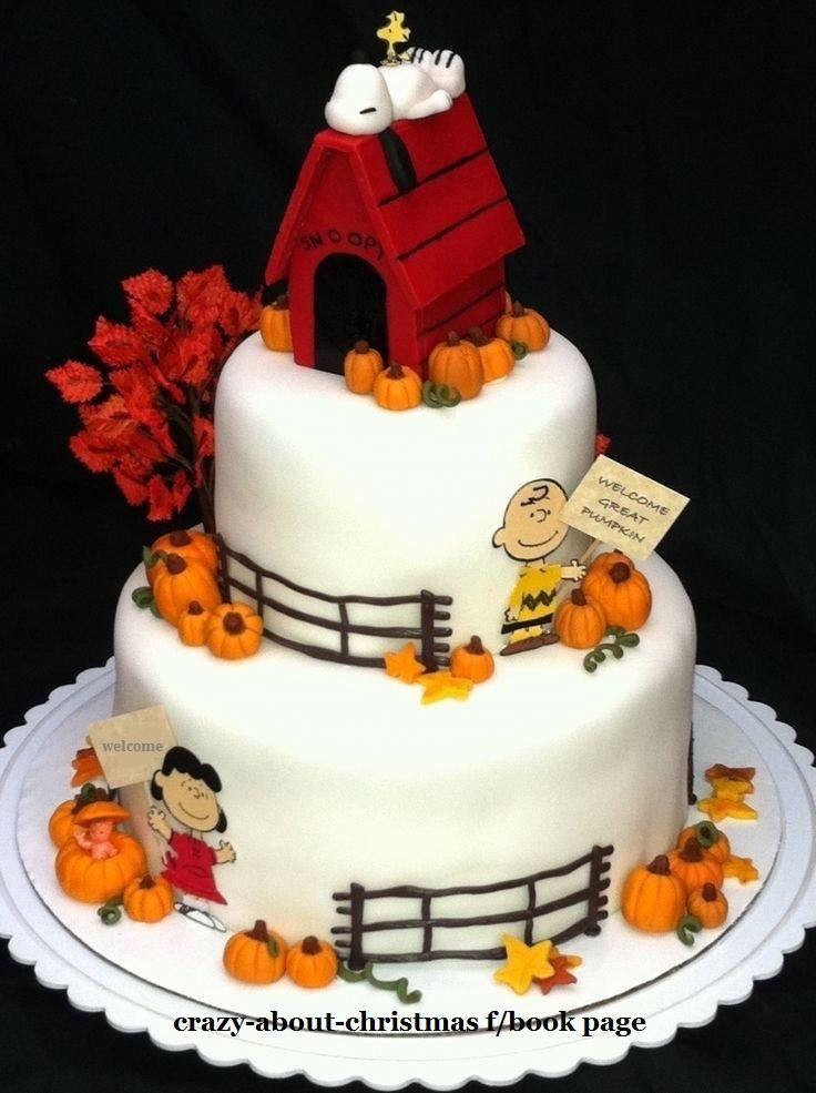Superb Birthday Cakes Peanuts The Great Pumpkin Cake Yesbirthday Personalised Birthday Cards Paralily Jamesorg