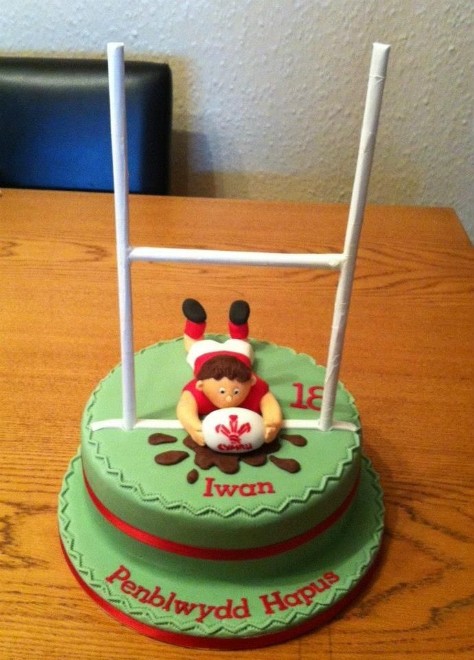 Enjoyable Birthday Cakes Rugby Cake For All Your Cake Decorating Funny Birthday Cards Online Ioscodamsfinfo