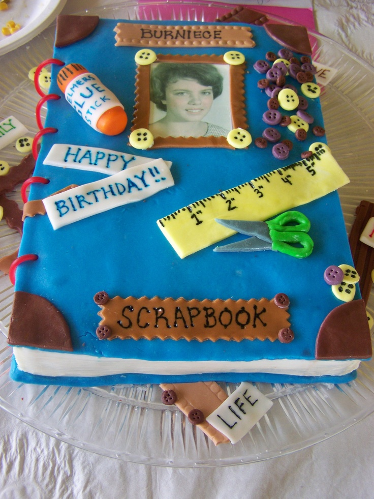 Tremendous Birthday Cakes Scrapbook Cake Saint Louis Cakes Yesbirthday Funny Birthday Cards Online Amentibdeldamsfinfo