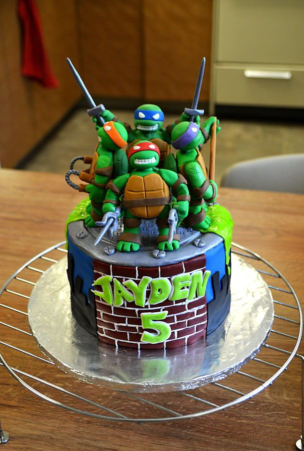 Excellent Birthday Cakes Teenage Mutant Ninja Turtles Birthday Cake Funny Birthday Cards Online Fluifree Goldxyz