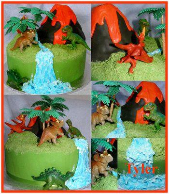 Tremendous Birthday Cakes Volcano Dinosaur Cake Thanks For The Idea Personalised Birthday Cards Veneteletsinfo