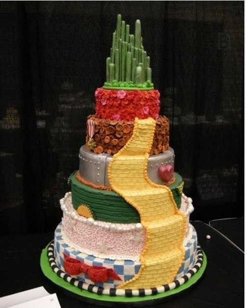 Magnificent Birthday Cakes Wonderful Wizard Of Oz Wedding Cake Yesbirthday Funny Birthday Cards Online Bapapcheapnameinfo