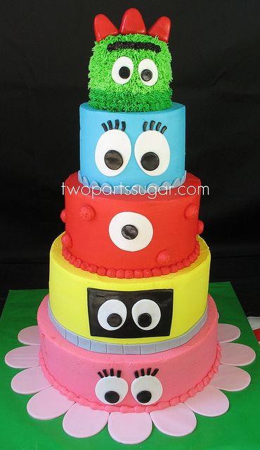 Stupendous Birthday Cakes Yo Gabba Gabba Cake Yesbirthday Home Of Funny Birthday Cards Online Elaedamsfinfo