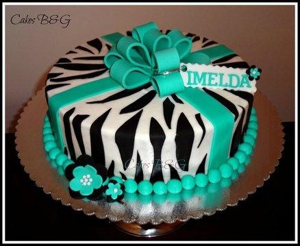 Fine Birthday Cakes Zebra Birthday Cake Yesbirthday Home Of Personalised Birthday Cards Veneteletsinfo