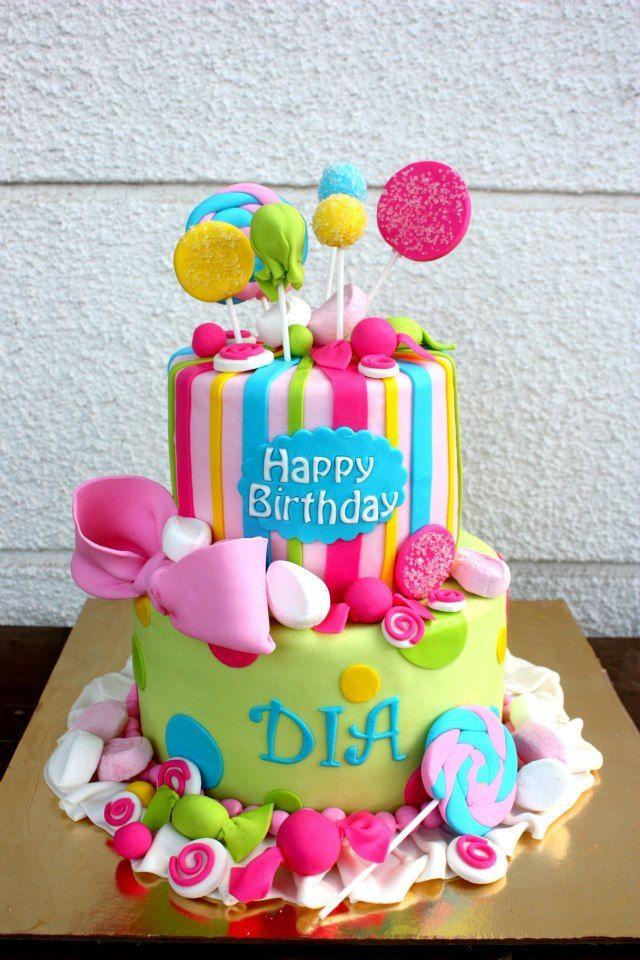 Enjoyable Birthday Cakes Candy Party Cake Yesbirthday Home Of Birthday Birthday Cards Printable Opercafe Filternl