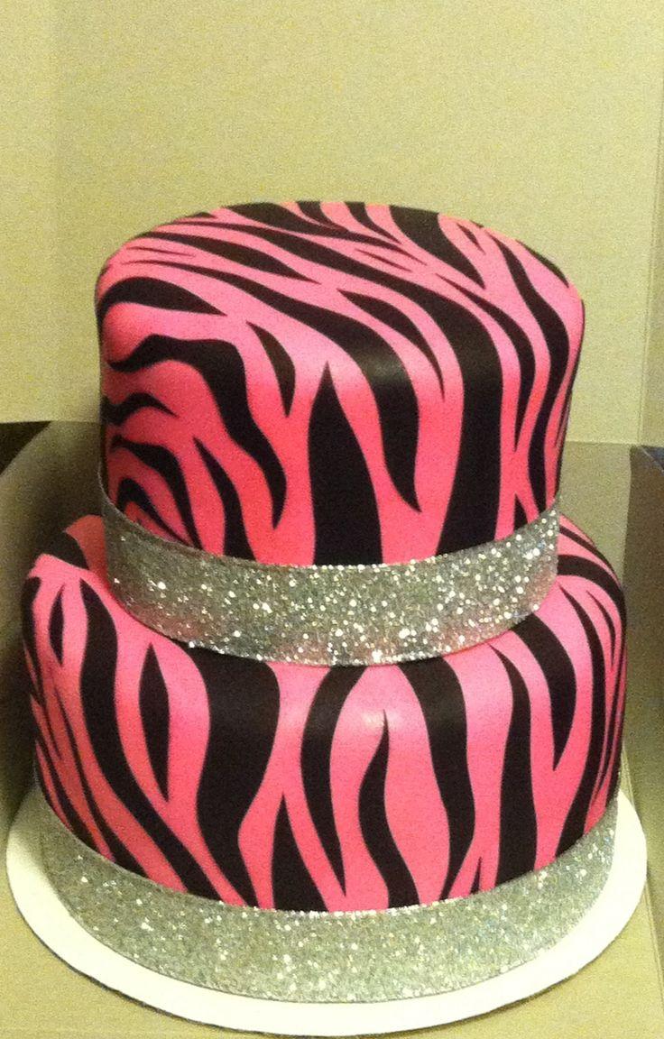 Enjoyable Birthday Cakes Hot Pink Zebra Cake Google Search Yesbirthday Personalised Birthday Cards Veneteletsinfo